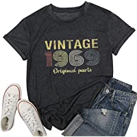 Vintage 1969 Original Parts T Shirt Women 50th Birthday Gift Shirts Casual Summer July 1969 Top Tee