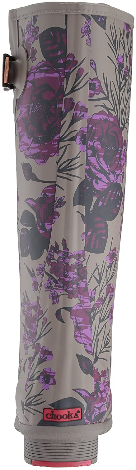 Chooka Women's Tall Memory Foam Rain Boot B01MYYRL7S 6 B(M) US|Hattie