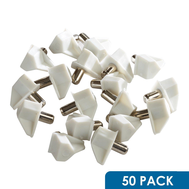 delicate 50 pack rok hardware 5mm white shelf support bracket