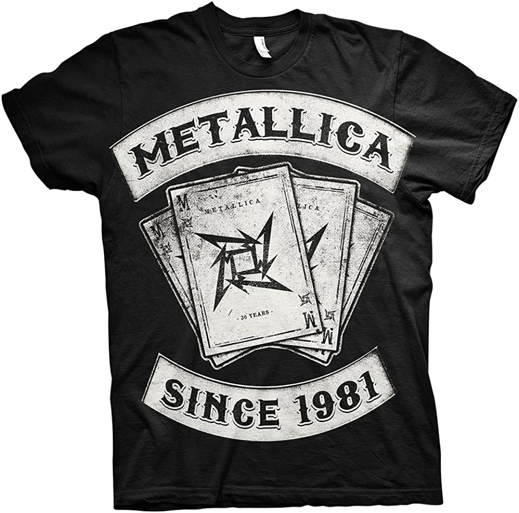 Metallica Since 1981 Dealer Rock Heavy Metal Oficial Camiseta para Hombre (XX-Large): Amazon.es: Ropa y accesorios