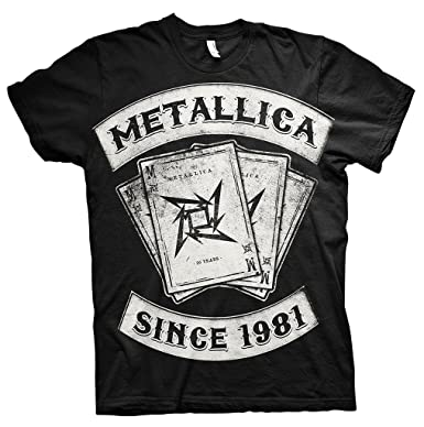 Metallica Since 1981 Dealer Rock Heavy Metal Official Tee T-Shirt Mens Unisex (Small
