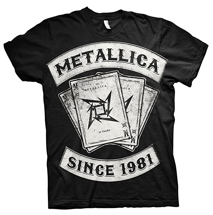 Metallica Since 1981 Dealer Rock Heavy Metal oficial Camiseta para hombre (Small)