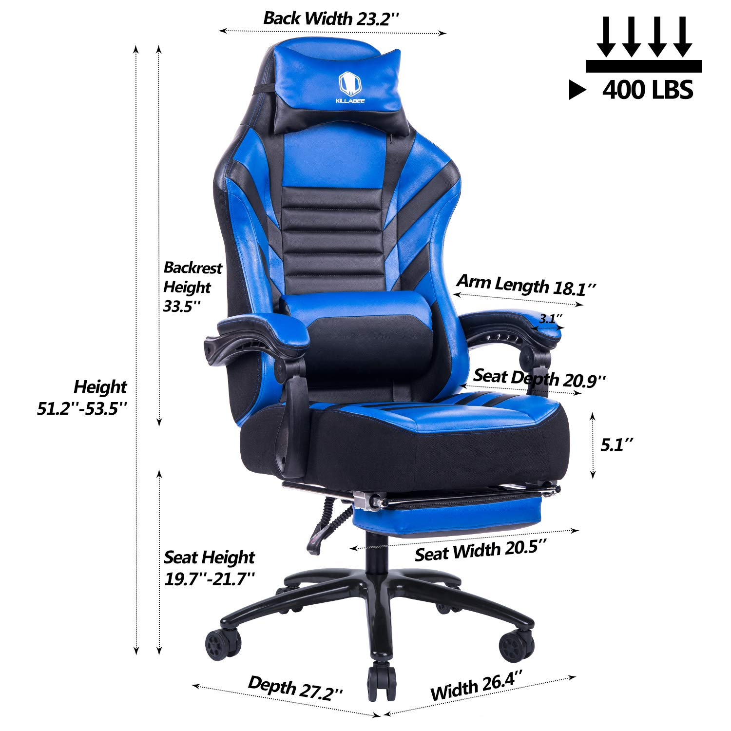 Big & Tall Reclining Office Chairs (With Footrests) | For ...