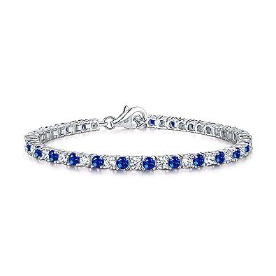 382d2251e7b8 Diamond Treats Pulsera de Tenis con Zafiros Azules de Mujer