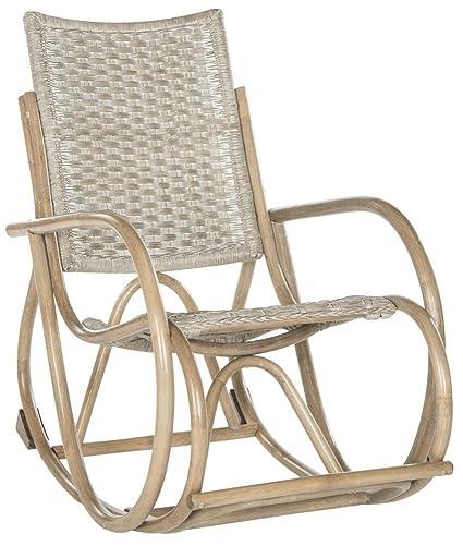 Safavieh Home Collection Bali Antique Grey Rocking Chair - Amazon.com: Safavieh Home Collection Bali Antique Grey Rocking Chair
