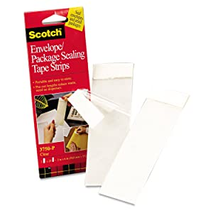 "3M 3750P Scotchpad Packaging Tape Pad, Clear 2"" Wide x 6"" Long"