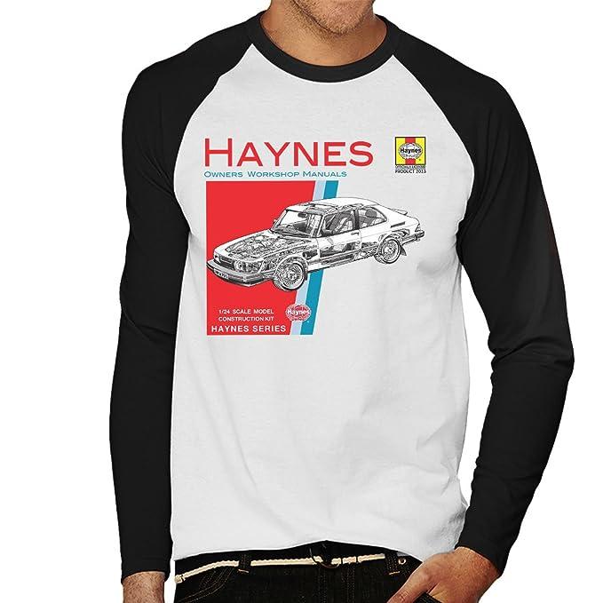 POD66 Haynes Owners Workshop Manual 0765 Saab 900 Turbo Mens Baseball Long Sleeved T-Shirt: Amazon.es: Ropa y accesorios