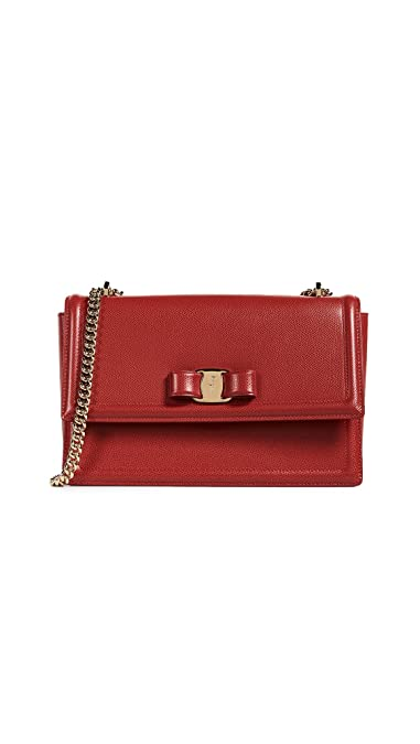 5be4235689 Amazon.com  Salvatore Ferragamo Women s Ginny Shoulder Bag