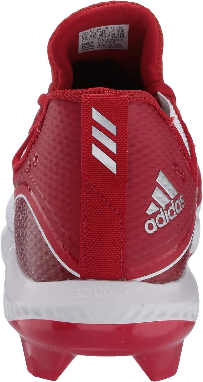 adidas Herren Icon V Bounce TPU Turnschuh, Wolke Weiß/Silber Metallic/Wolke Wh Power Red Power Red Ftwr Weiß