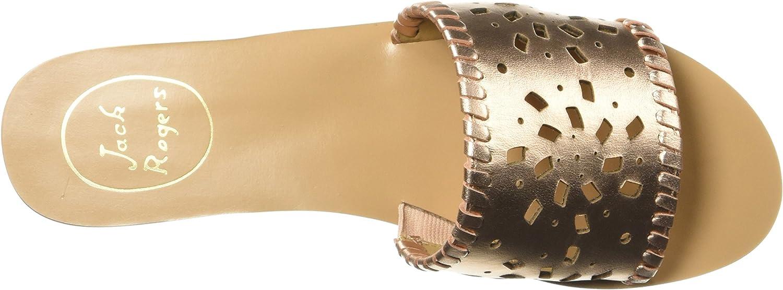 Jack Rogers Womens Delilah Flat Sandal 9.5 M US Rose Gold