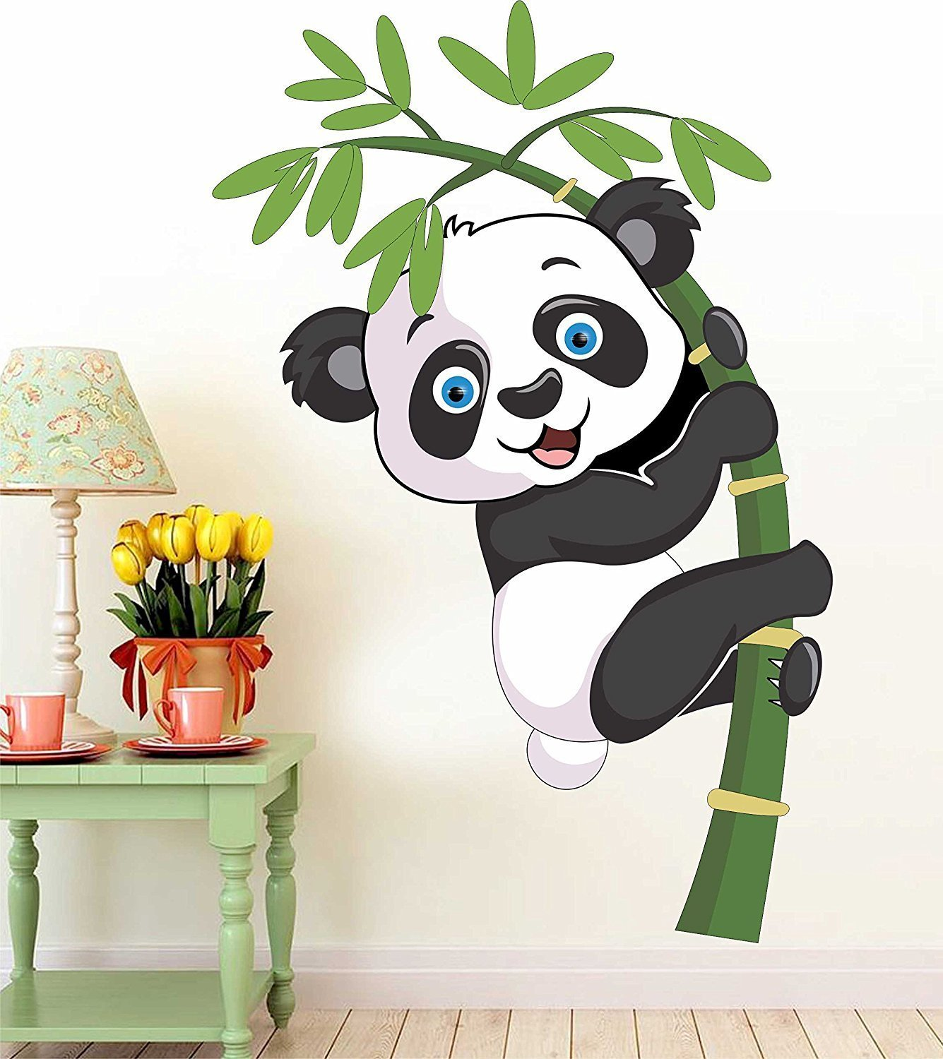Buy Printelligent Cute Baby Panda Wall Stickers Decal Wallpaper For Kids Home Living Room Bedroom Vinyl Standard Online At Low Prices In India Amazon In