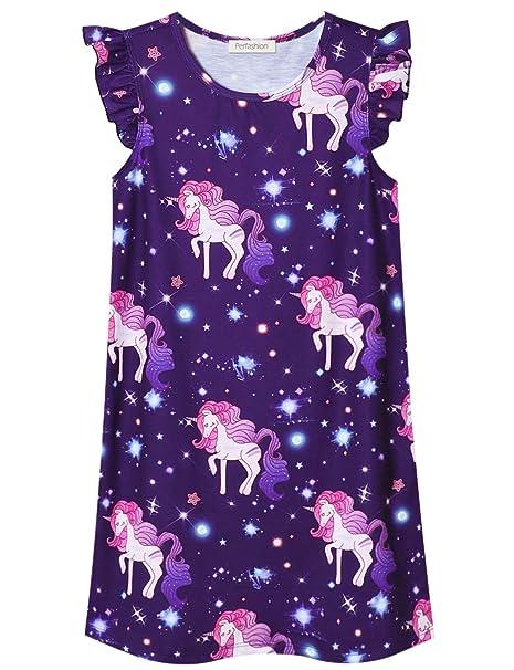 19483a3f0b3c8 Girls Princess Nightgown Cotton Nightdress Sleepwear Pajamas Dress for Kids