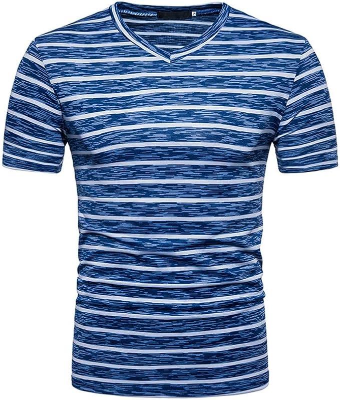 FAMILIZO T Shirts For Men Blusa Hombre Blanca Camisetas Manga Corta Hombre Moda Camisetas Hombre Algodón Camisetas Hombre Verano Blusa Hombre Manga Corta Tops Camisetas Hombre Rayas: Amazon.es: Ropa y accesorios