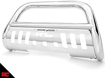 Rough Country Black Bull Bar w//LED Fits 2004-2019 F150 Push Bar Grille Guard B-F4041 F-150 Ford
