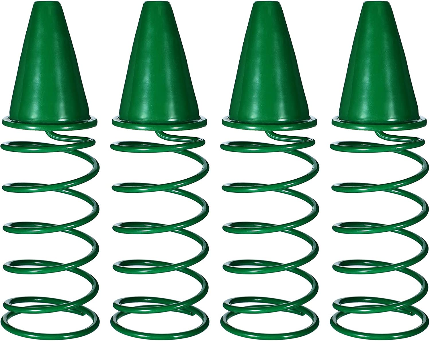 4 Pieces Christmas Tree Topper Holder Metal Tree Topper Stabilizer Green Christmas Tree Support Rod for Stabilizing Xmas Holiday Treetop Ornaments