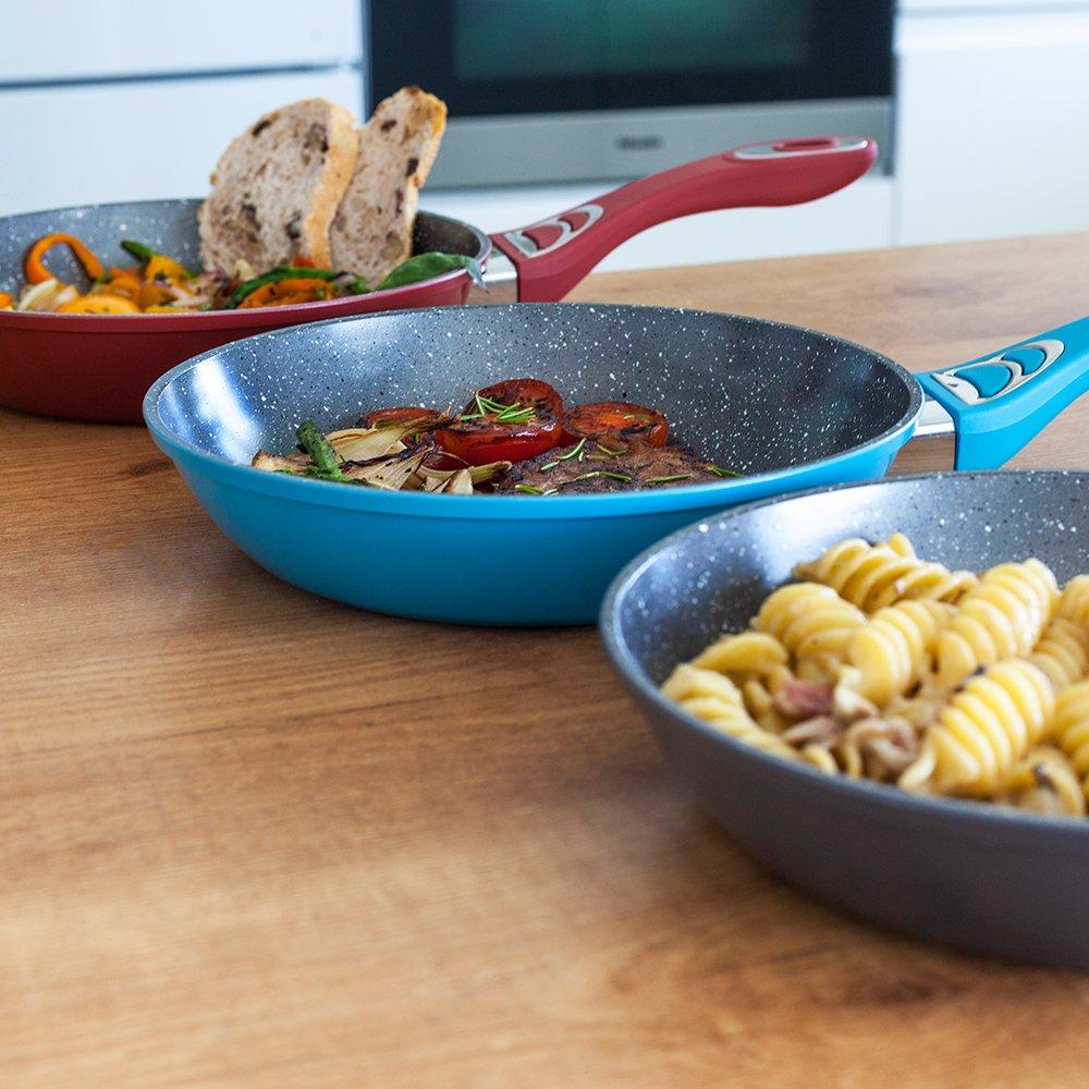 5 mm de grosor. Aptas para todas las cocinas, incluidas las de inducción. Tasty Cook Series de Cecotec. (Rojo): Amazon.es: Hogar