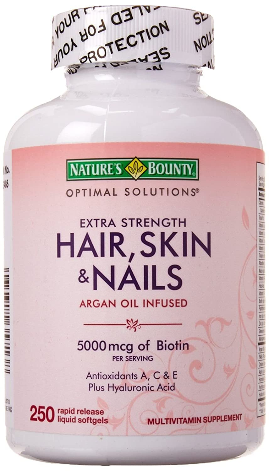 Amazon.com: Natures Bounty Extra Strength Hair Skin Nails: Health ...