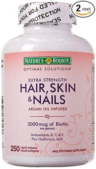 Amazon.com: Natures Bounty Extra Strength Hair Skin Nails: Health ...