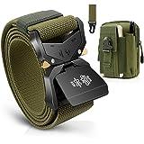 BESTKEE Cinturón táctico para hombres 1.5 pulgadas, estilo militar Cinturón con hebilla con cierre rápido de hebilla de…