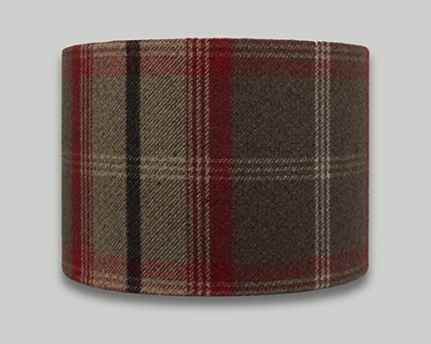 Balmoral rosso red brown beige tartan check drum lampshade 20cm 25cm balmoral rosso red brown beige tartan check drum lampshade 20cm 25cm 30cm 35cm 40cm 50cm 60cm aloadofball Image collections