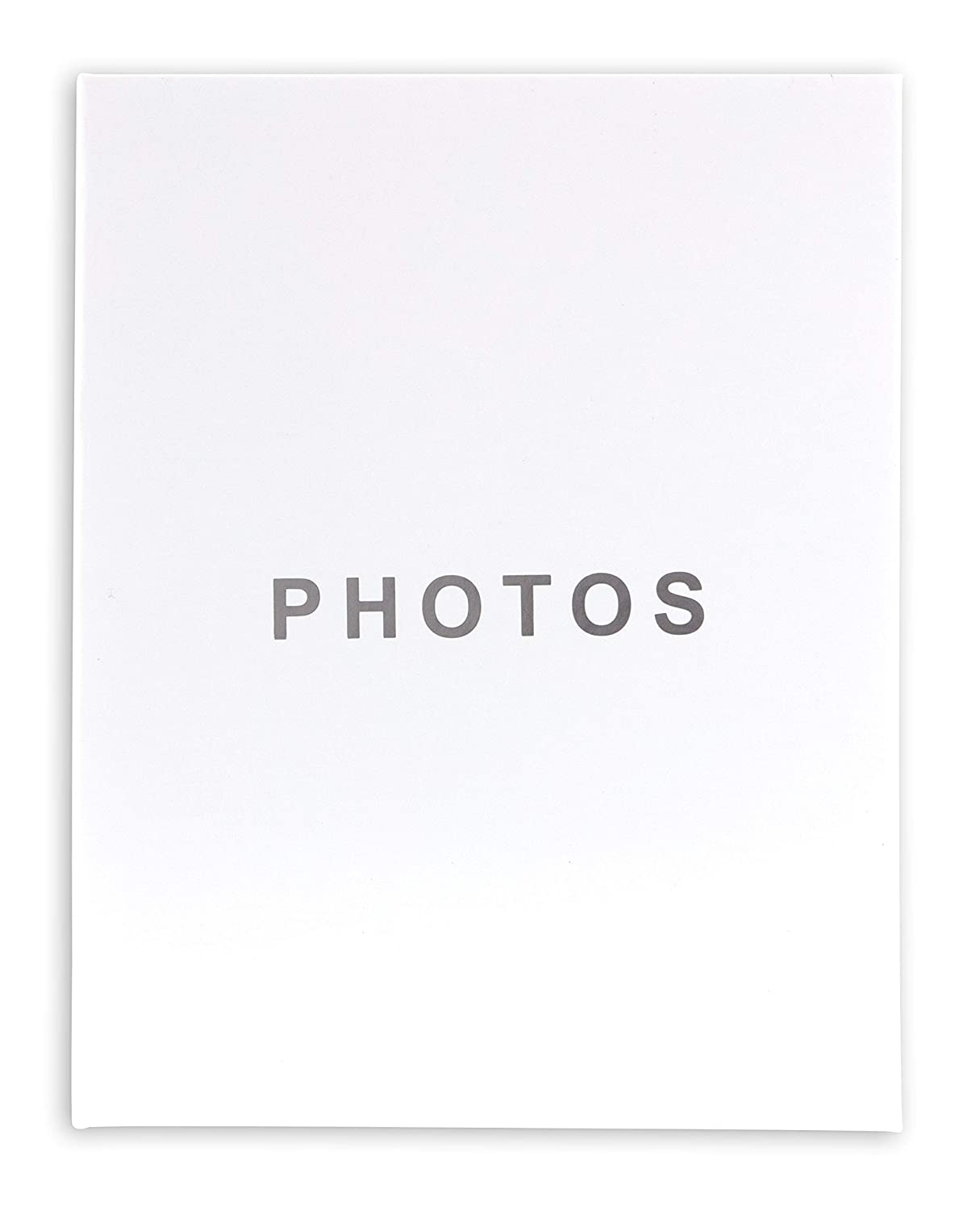 kieragrace The KG Cozy Home Jocelyn Features a Matte Finish, Minimal Cover and Stores 100 4 6-inch Photo Album, White