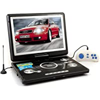 WORLDTECH PORTABLE DVD PLAYER WITH BUILT IN 9.8 INCH LED TV SUPPORT TV TUNER, USB, SD CARD,AV IN AND AV OUT