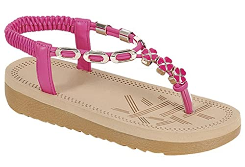 1a3915c2ee90a Best Cute Pink Jeweled Sandals for Little Girls Toddlers Dressy Easy Slipon  T-Strap Comfy