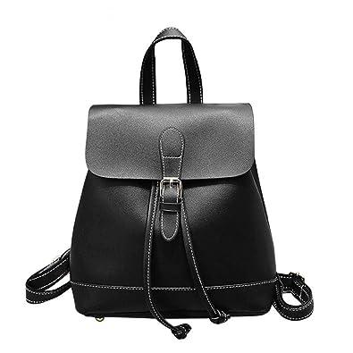 ba818bad371a Amazon.com: Evan Fordd Korean Women Backpack Casual Pu Leather ...