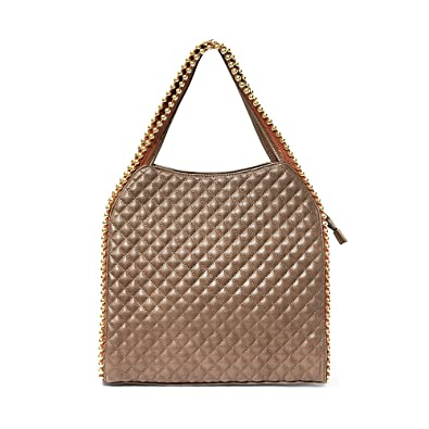 3f79a44da3 Amazon.com  BIG BUDDHA COFFEE TUFTED URBAN METRO GEORGIE GOLD BEAD TRIM TOTE  HAND BAG  Shoes