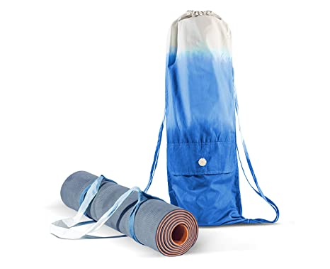 3bc2359ccfa Koruai Set Yoga Mat Bag and Strap - Carrying Yoga Mat - Handmade Organic  Cotton - Large Cargo Pocket Cool Backpack - Yoga Pilates Gym Fitness or  Casual ...