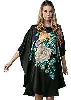 iF Silk, 100% Pure Silk nightgowns Batwing Sleeved Classic Nightwear Sleepwear Pajama perfect