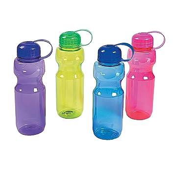 Amazon.com: Colorido contorneado botellas de agua de ...
