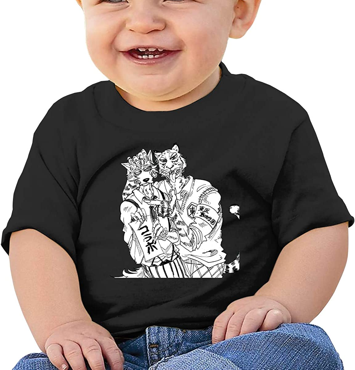 LIIREN Beastars Tee Custom Cute T-Shirt for Baby Black