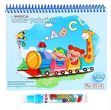 Bloc de dibujo para niños con dibujo mágico, libro para colorear con dibujo con lápiz