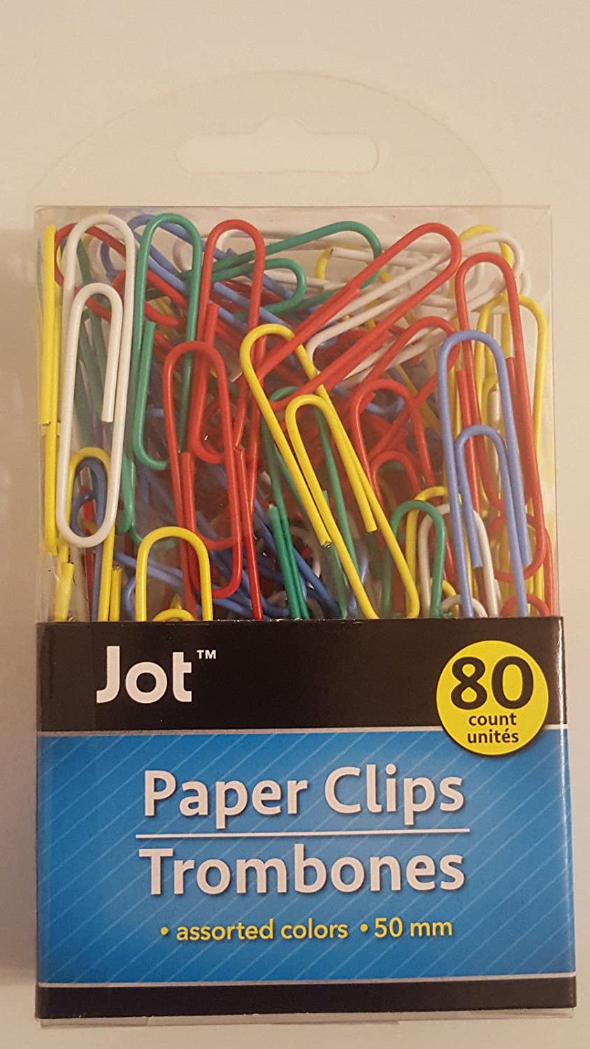 Fast Free Shipping 100 Plastic Coated Jumbo Paper Clips Assorted Color 50 mm