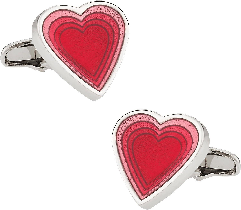 MRCUFF Presentation Gift Box Locket Heart Valentines Day Love Photo Picture Pair Cufflinks /& Polishing Cloth