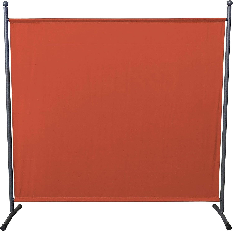 QUICK STAR Paravent 180 x 178 cm tela separador de ambientes partición jardín grande Biombo tabique balcón privacidad Rojo Naranja: Amazon.es: Jardín