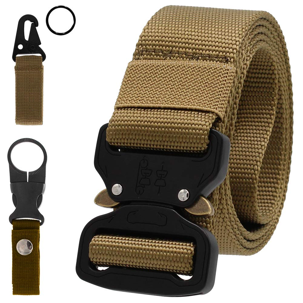 Gemony Cintura Uomo Tattica Cintura Militare Tela Regolabile in Nylon Stile Cinta con Fibbia in Metallo a Sgancio Rapido per Lavorare Allaperto