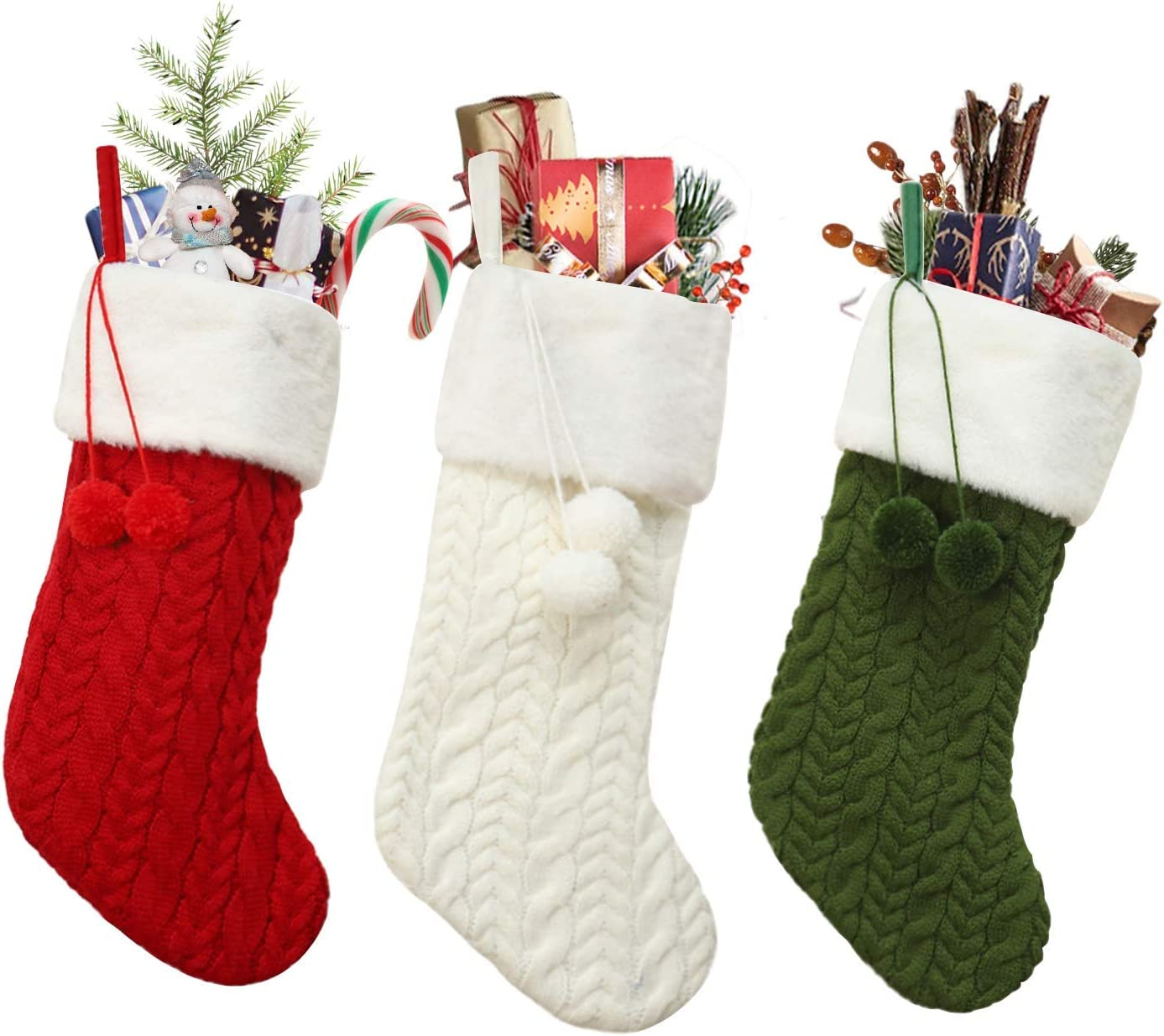 KNIT XMAS DECORATIONS PATTERN for Christmas Stocking!