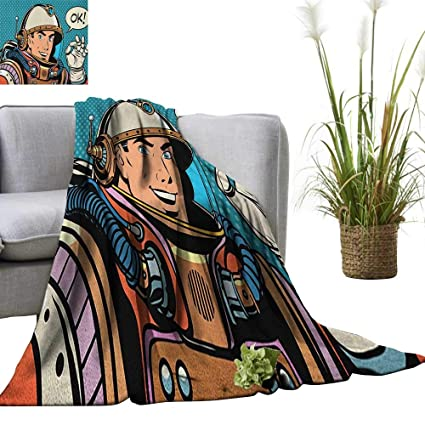 Amazon.com: Astronaut Digital Printing Blanket Middle Aged ...