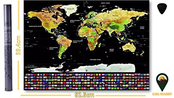 Xl scratch off map deluxe extra large world map poster us states xl scratch off map deluxe extra large world map poster us states countries gumiabroncs Gallery