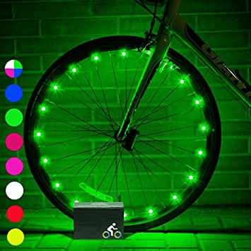 My-My LED Luces de Rueda de Bicicleta para niños, Luces de Rueda de Bicicleta para ...