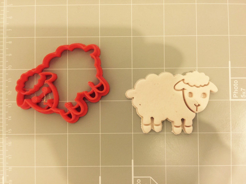 /Emporte-pi/èce en forme de Animal Cookie Cutz mignon Mouton Emporte-pi/èce/