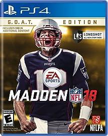 bb926163a Amazon.com  Madden NFL 18 G.O.A.T. Edition - PlayStation 4 ...