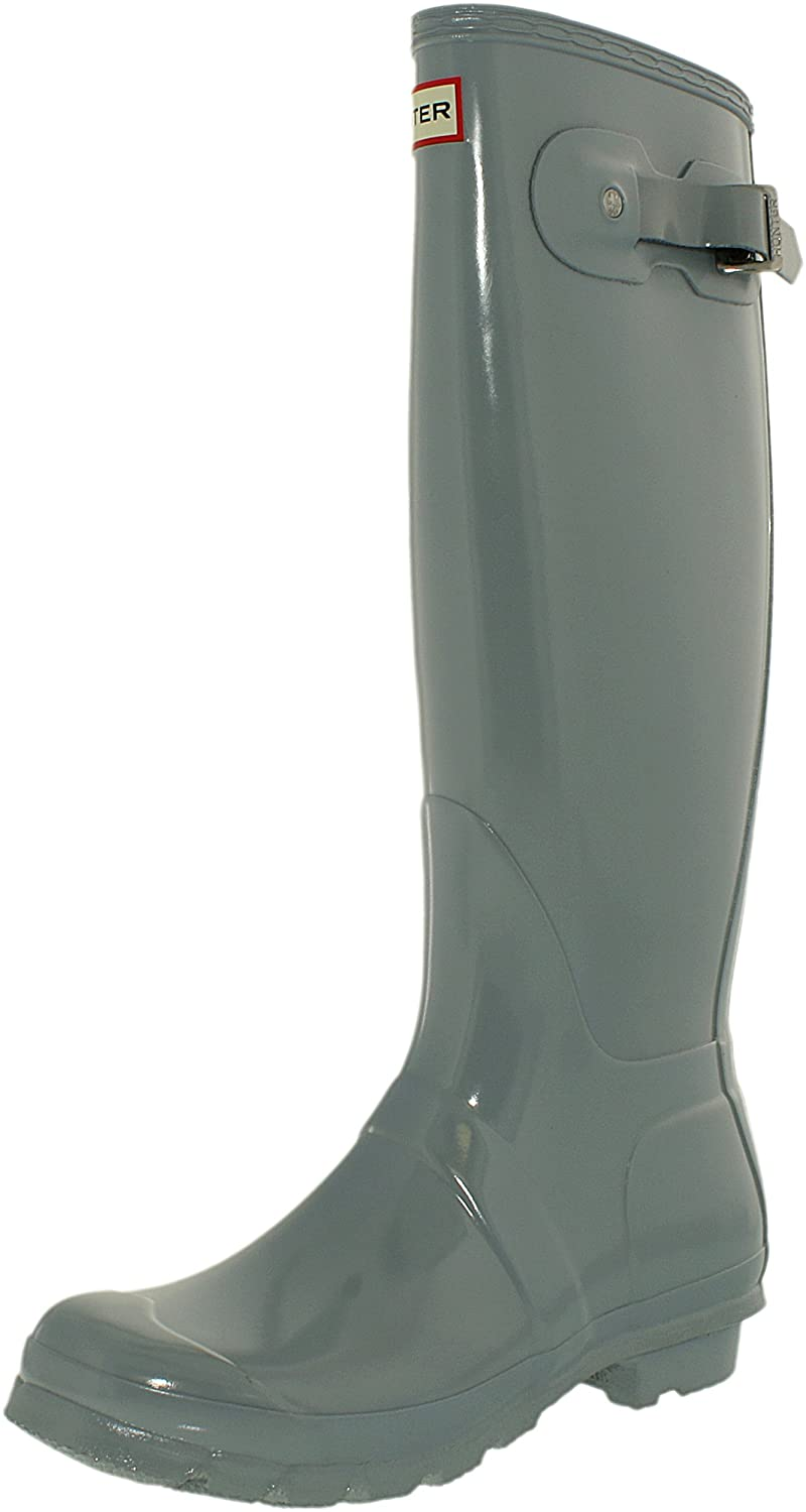 Hunter Women's Original Tall Rain Boot B01123T9SW 8 B(M) US|Gloss Porcelain Blue