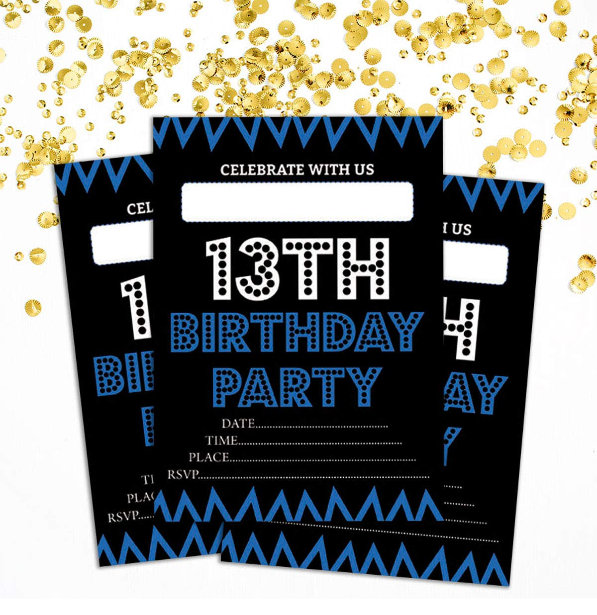 Amazon Darling Souvenir Black Birthday Invitation Card Printable Fill Or Write In Blank Invites Party Supplies Pack Of 28 5 X 7 Inches Home Kitchen