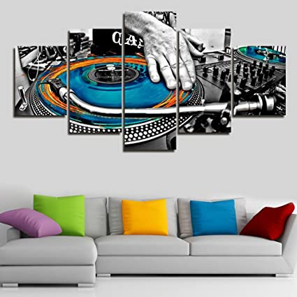 Amazon.com: Large Wall Decor Canvas Party Decoration Wall Art DJ ...