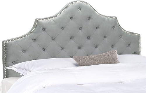 Safavieh Mercer Collection Arebelle Grey Tufted Headboard Queen
