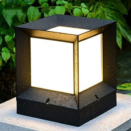 Attirant Rishx Professional Outdoor Waterproof Landscape Column Light Energy Saving  LED Rustproof Die Cast Aluminum Patio