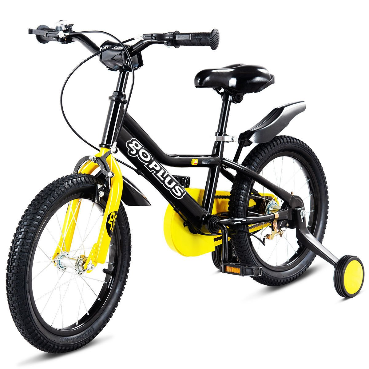 Goplus 12'' Kid's Bike Freestyle Outdoor Sports Bicycle with Training Wheels Boys Girls Cycling Superbuy
